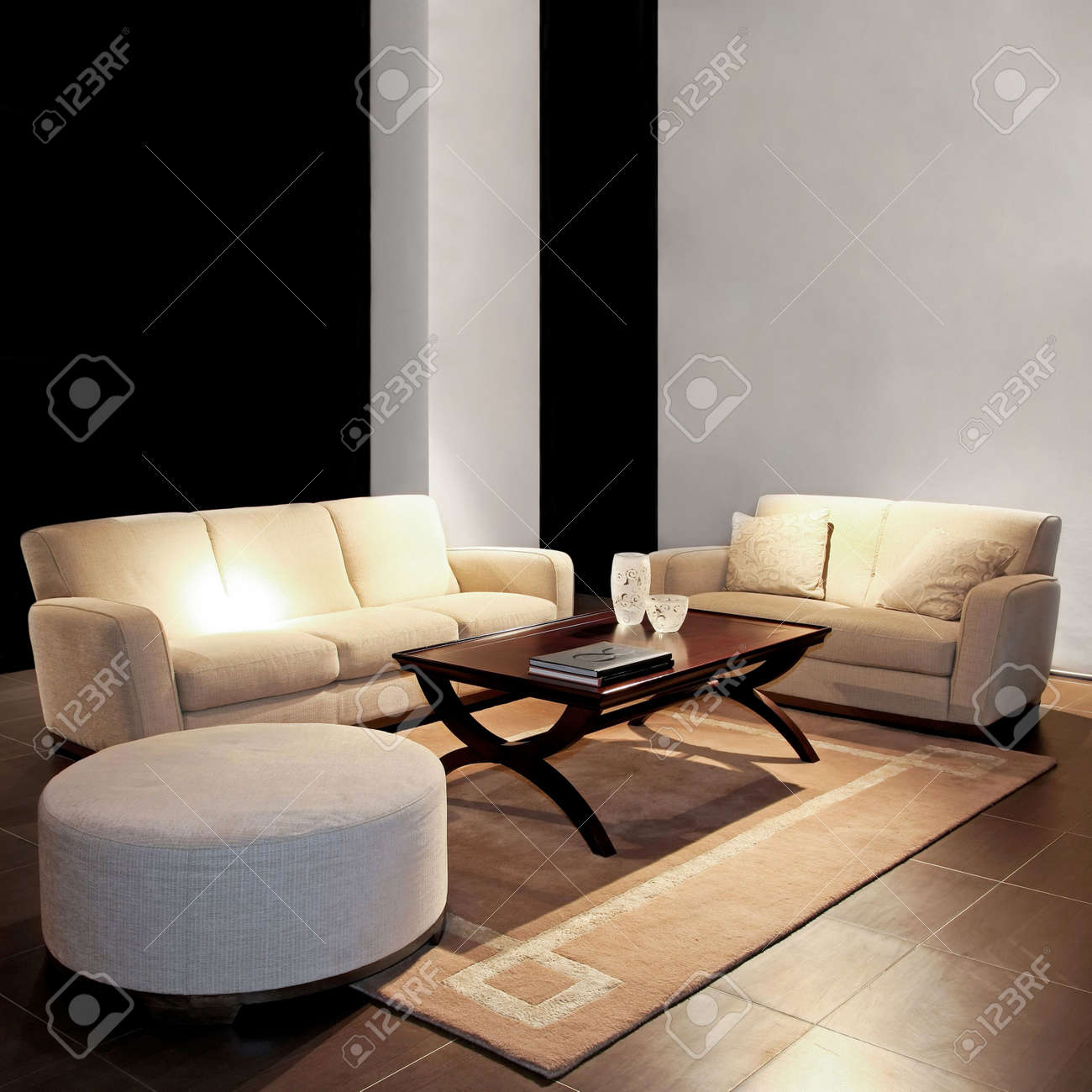 beige sofas living room. Modern living room with two beige sofas Stock Photo  2691424 Living Room With Two Beige Sofas Picture And