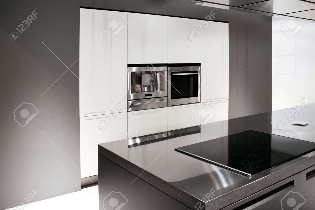 Contemporary kitchen with coffee machine and oven Stock Photo - 3108725