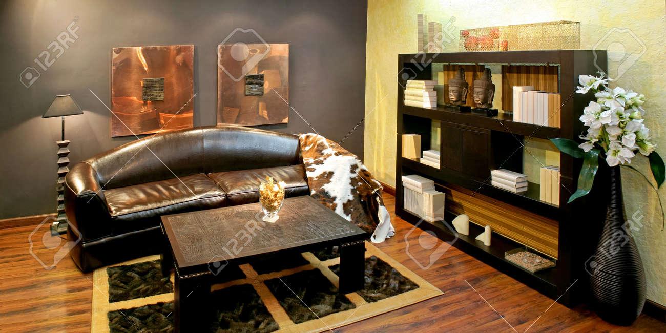 afrikanischen stil wohnzimmer mit viel details lizenzfreie fotos