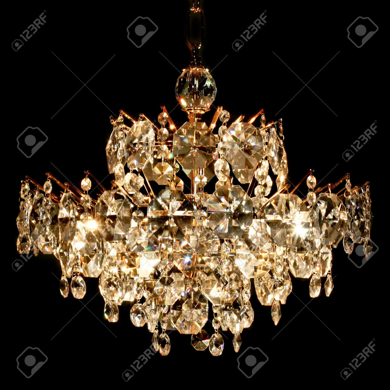 Big luxury chandelier with lot of crystals stock photo picture and big luxury chandelier with lot of crystals stock photo 3206261 aloadofball Image collections