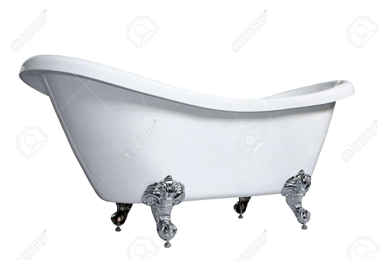 Old Style Bath Tub With Metal Legs Stock Photo, Picture And Royalty ...