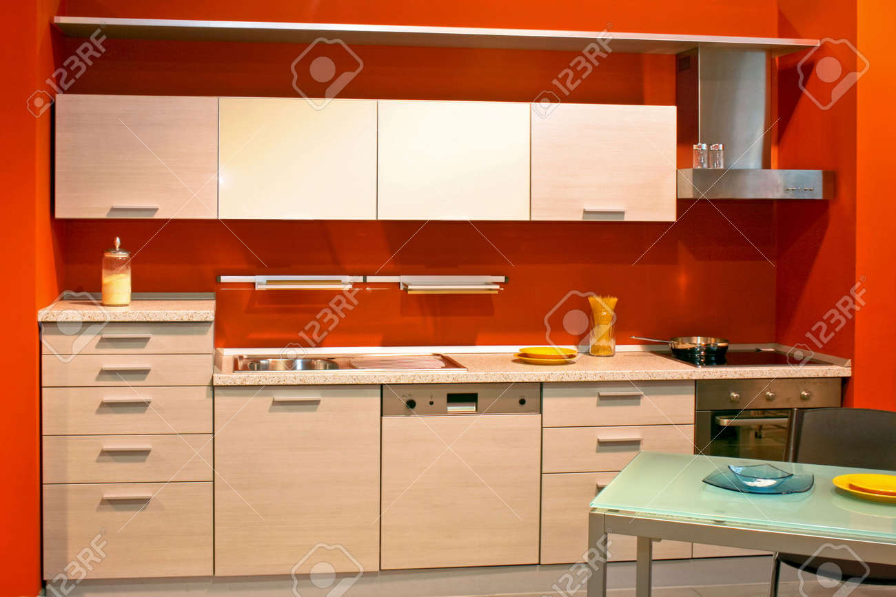 Orange Kitchen White Cabinets plain orange kitchen walls with white cabinets throughout decorating