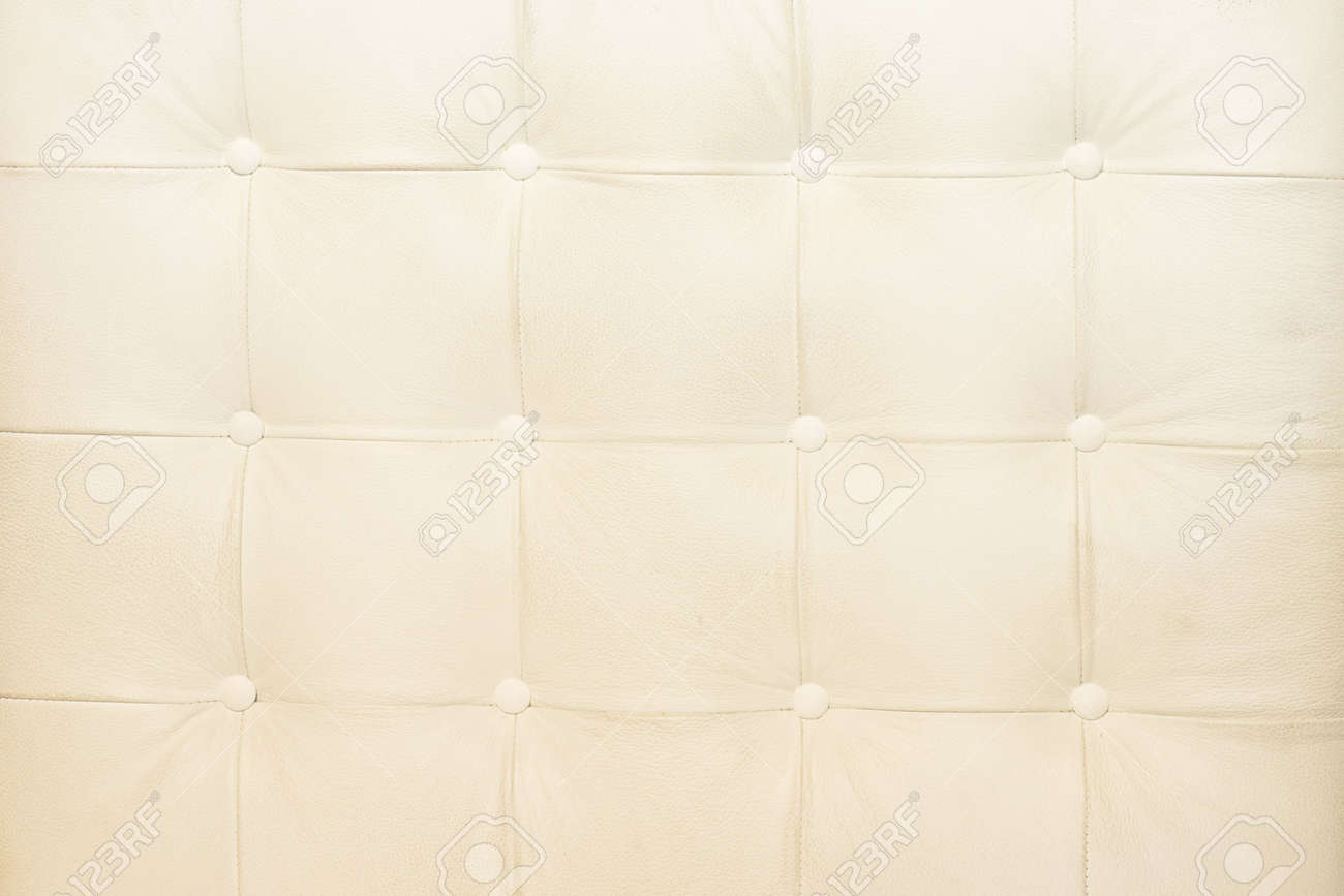 White Upholster Pattern In White Leather Material Stock Photo   3619745
