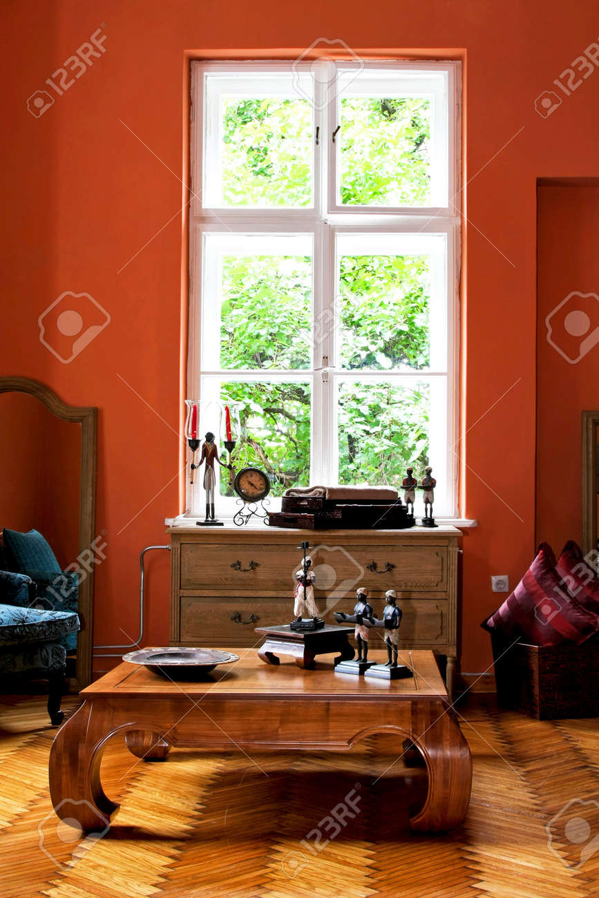 Interior of explorer home in terracotta color Stock Photo - 4151473