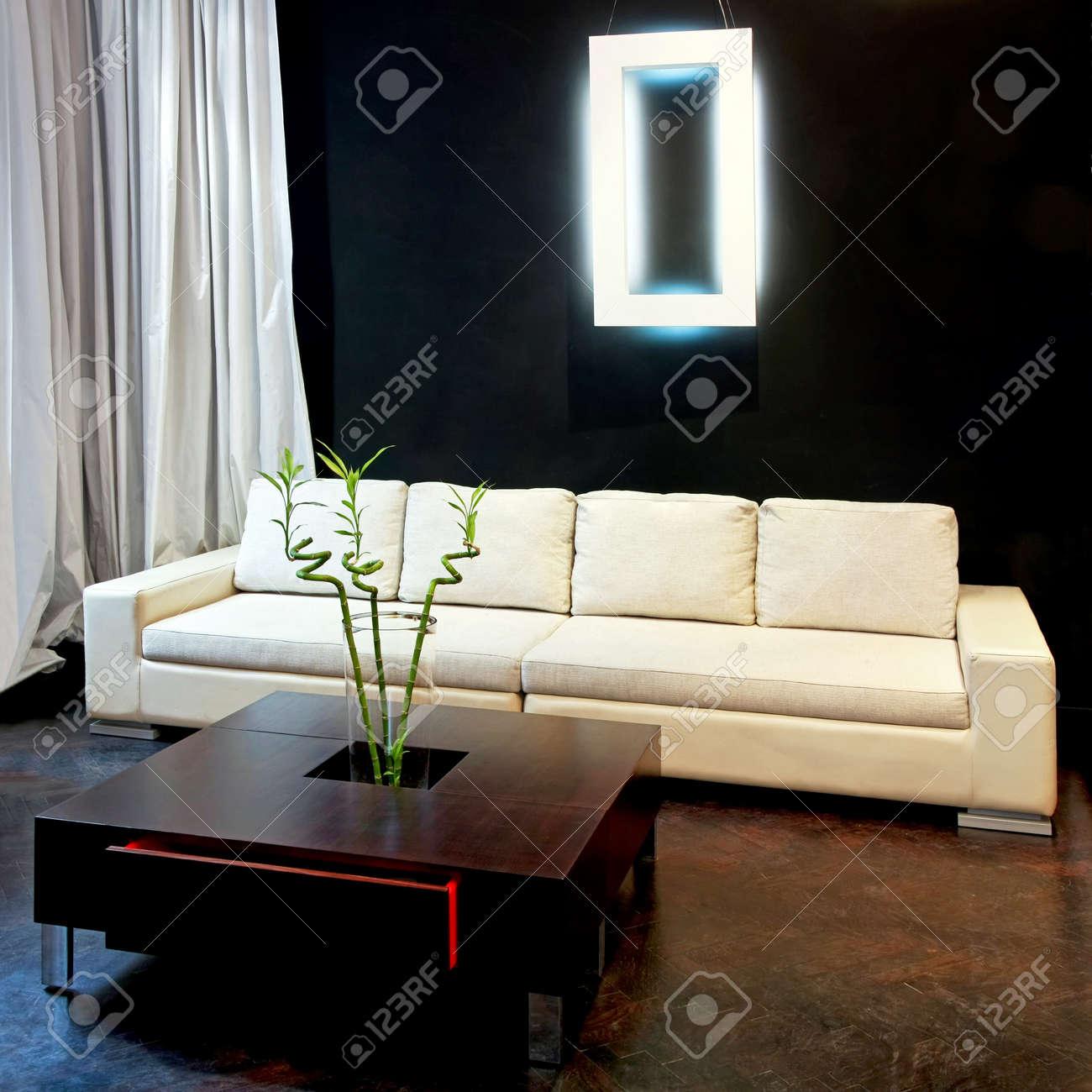Interior Schuss Der Zeitgenössischen Stil Wohnzimmer Lizenzfreie ...