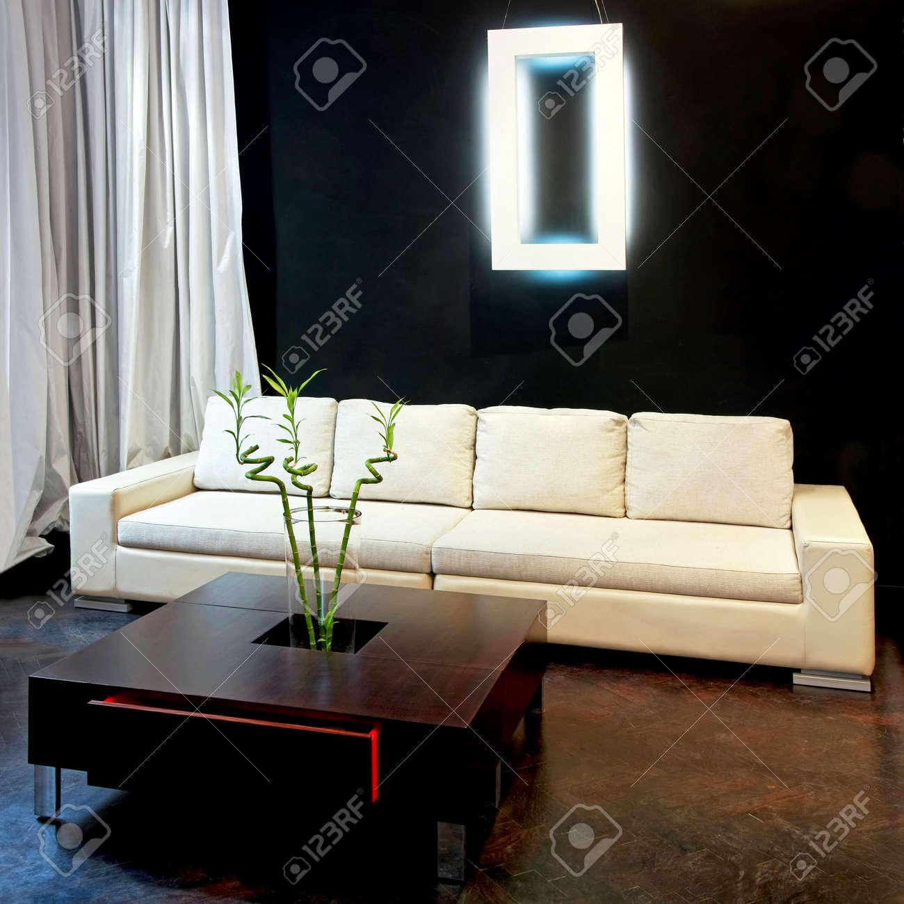 Interior shot of contemporary style living room Stock Photo - 4179407