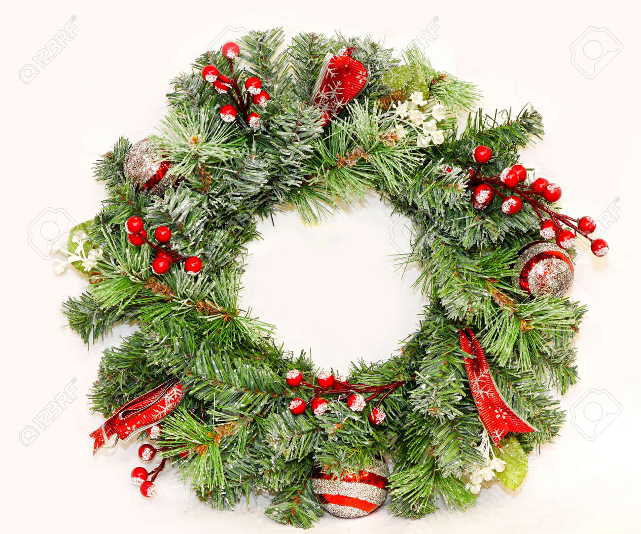 Traditional Christmas wreath for entrance door decoration - 8450745