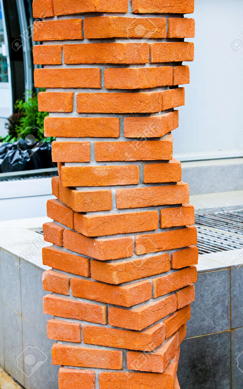 Traditional Terracotta Brick Pillar In Helix Configuration Stock Photo Picture And Royalty Free Image Image 8450785
