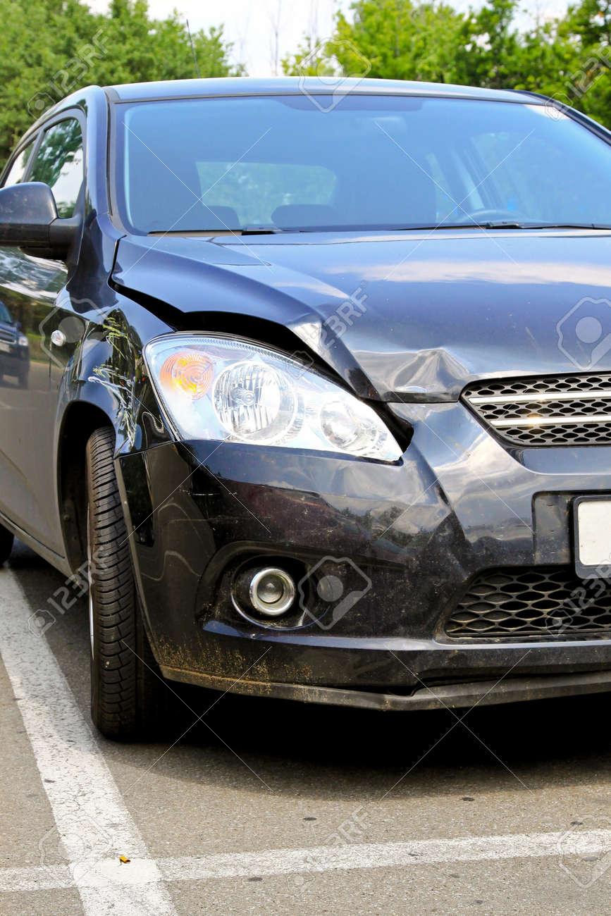 Bumper and hood damage at new car Stock Photo - 8520375