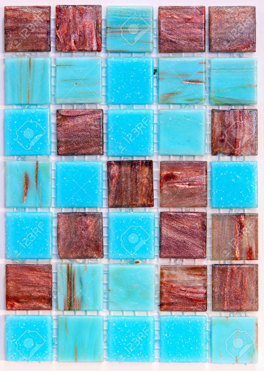 Interesting Texture Mosaic Tiles For Swimming Pool Stock Photo ...