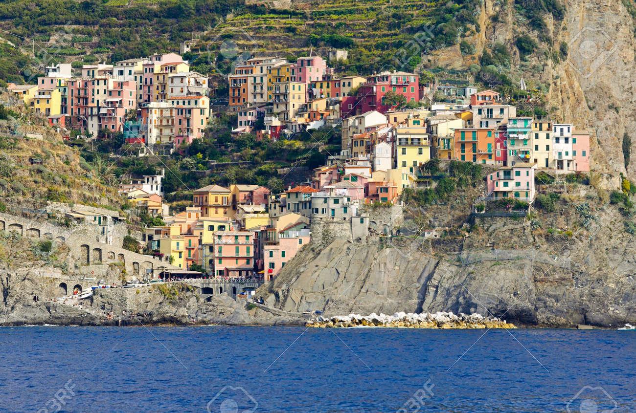 Manarola town at Cinque Terre Liguria coast Stock Photo - 9188302