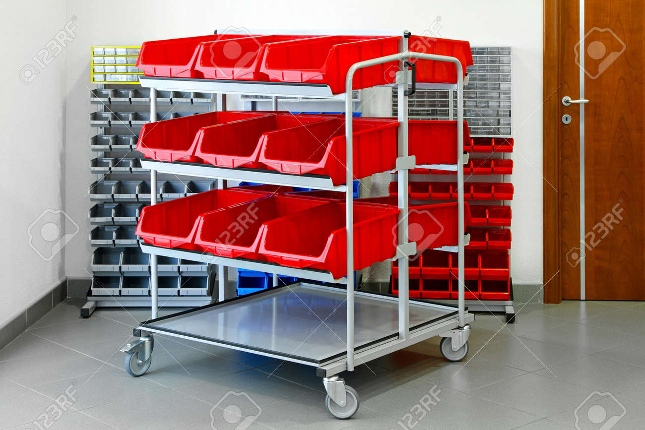 Shelves for inventory in garage and workshop Stock Photo - 10044028