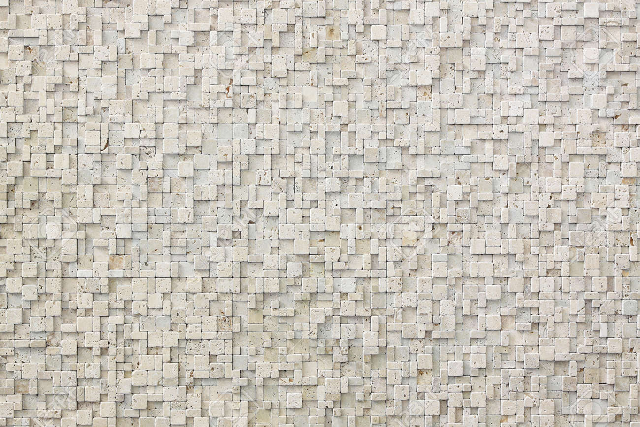 Background Made From Small White Marble Tiles Stock Photo, Picture ...
