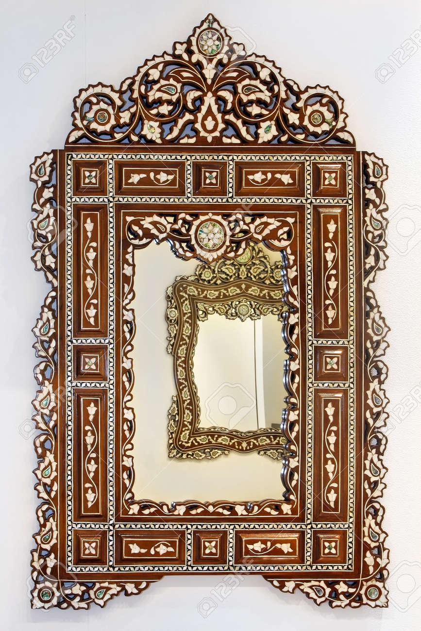 Specchio Antico Stile Marocchino Con Cornice In Legno Decorativa ...