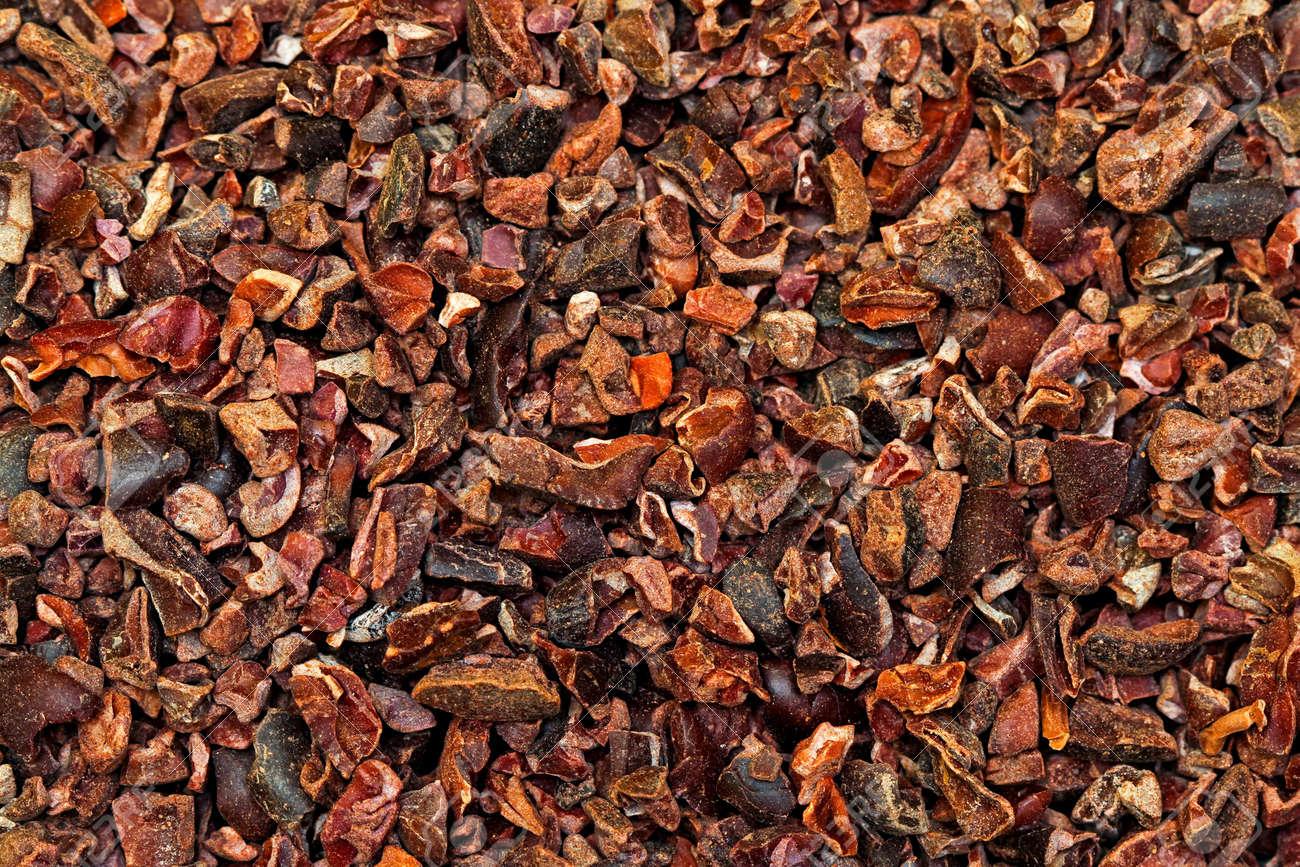 Bunch of raw organic crushed cocoa nibs Stock Photo - 10773062