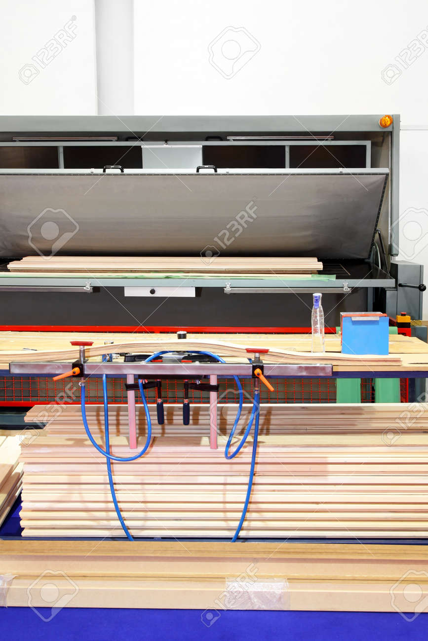 Cold and hot press for wood in workshop Stock Photo - 11192670