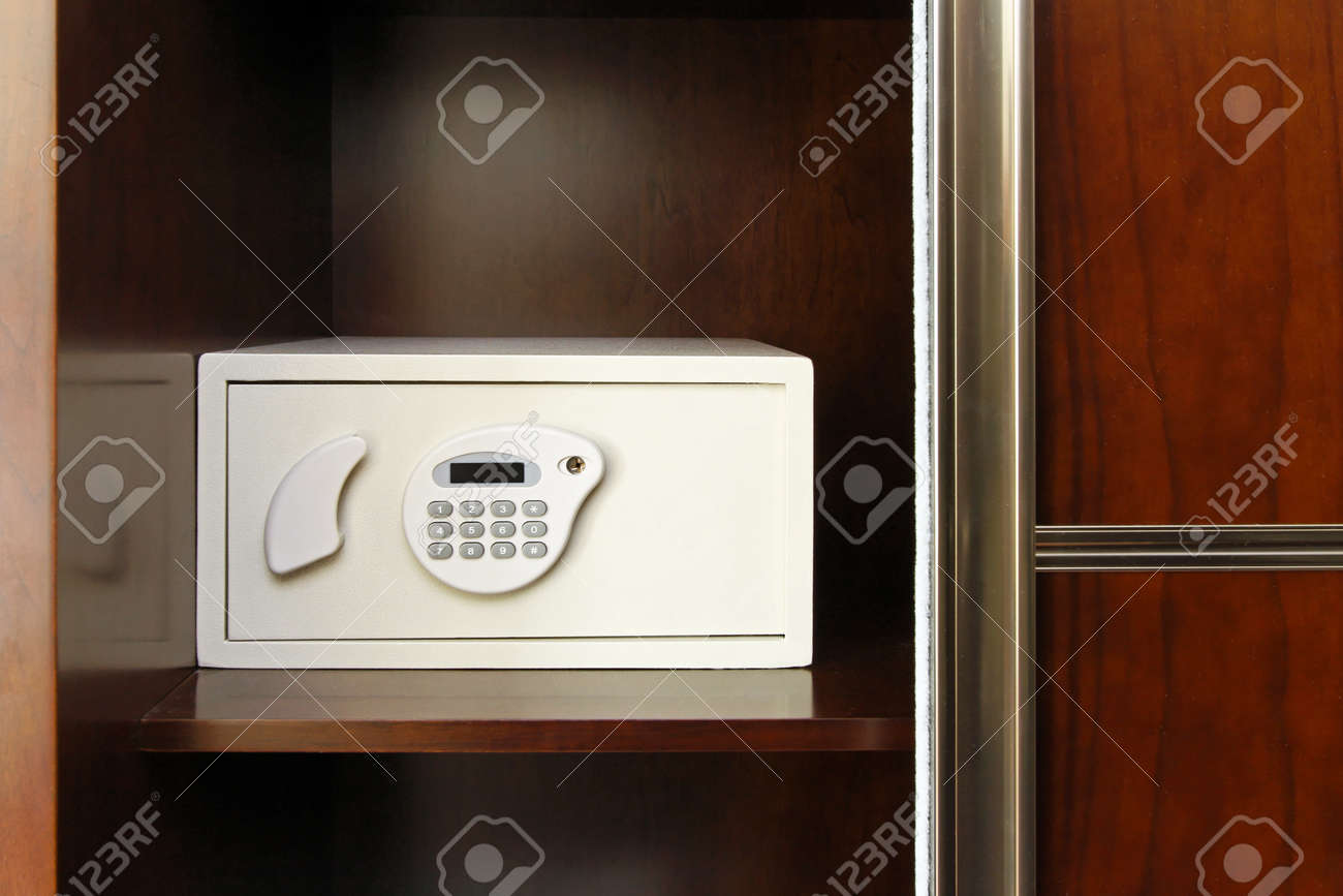 Safe Box With Electonic Lock In Closet Stock Photo   11041137