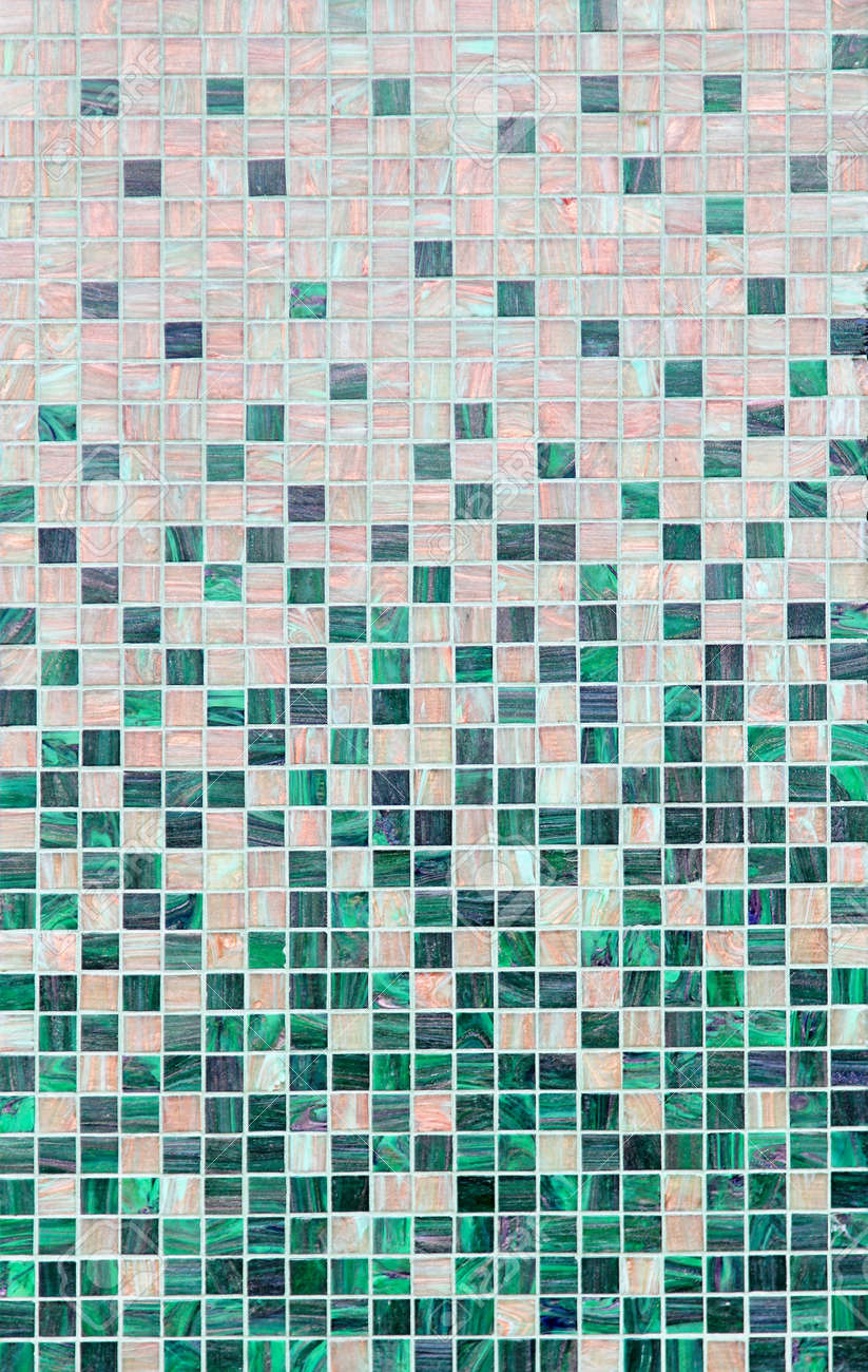 Small Square Mosaic Style Tiles At Wall Stock Photo, Picture And ...