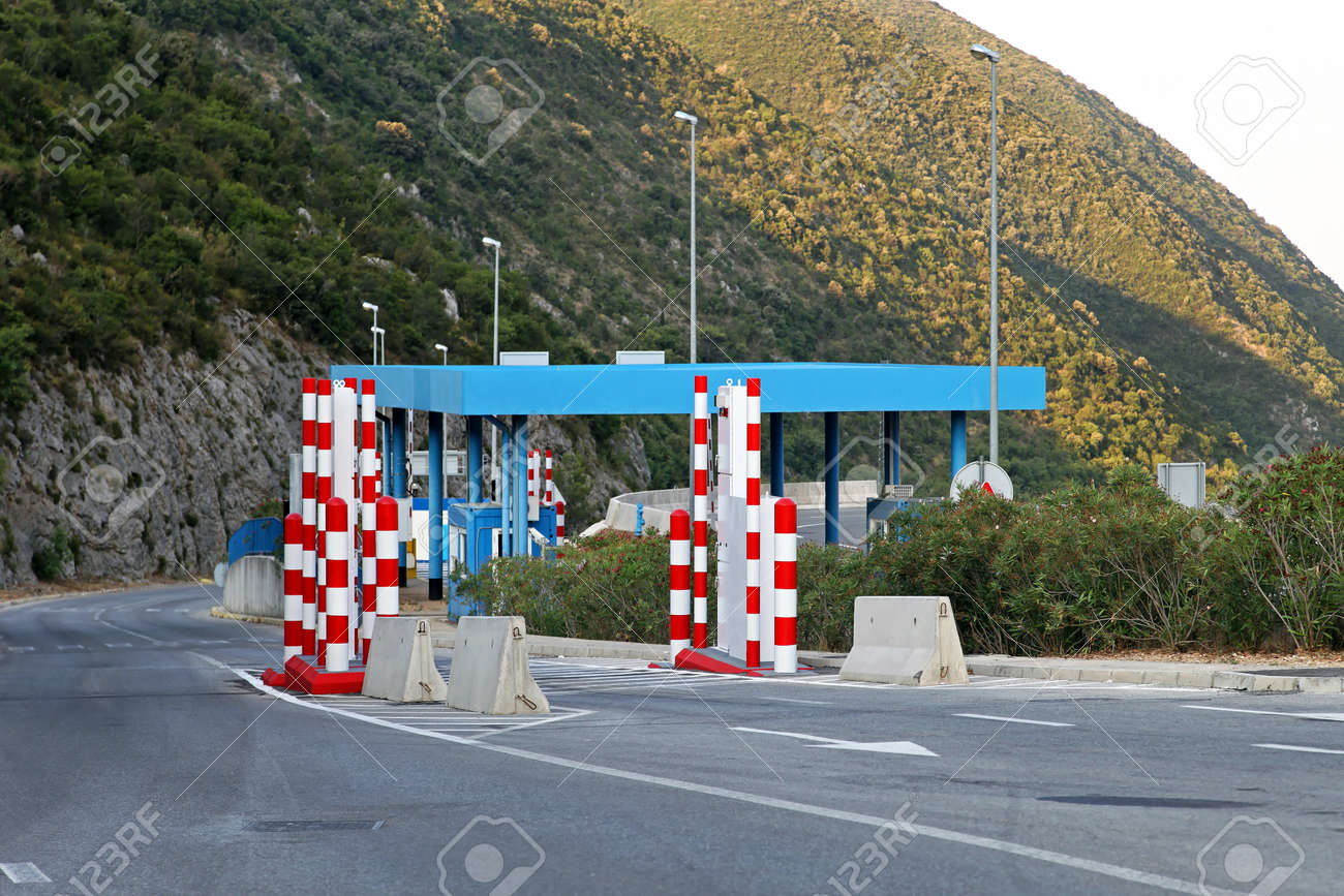 Border control point with  vehicle portal monitor system Stock Photo - 14811686