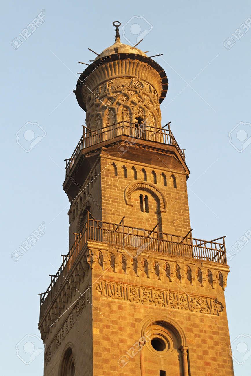 Minaret of El Nasir Mosque at Citadel in Cairo Stock Photo - 17249592
