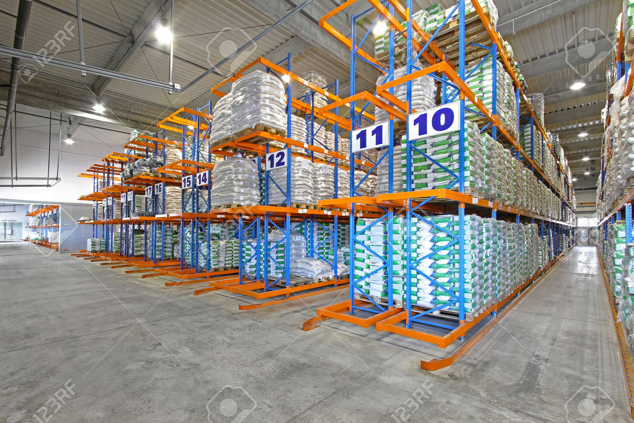Rows of shelving system in distribution warehouse Stock Photo - 18352968