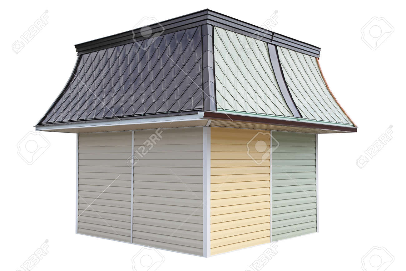One small kiosk pavilion with closed shutters Stock Photo - 19187782