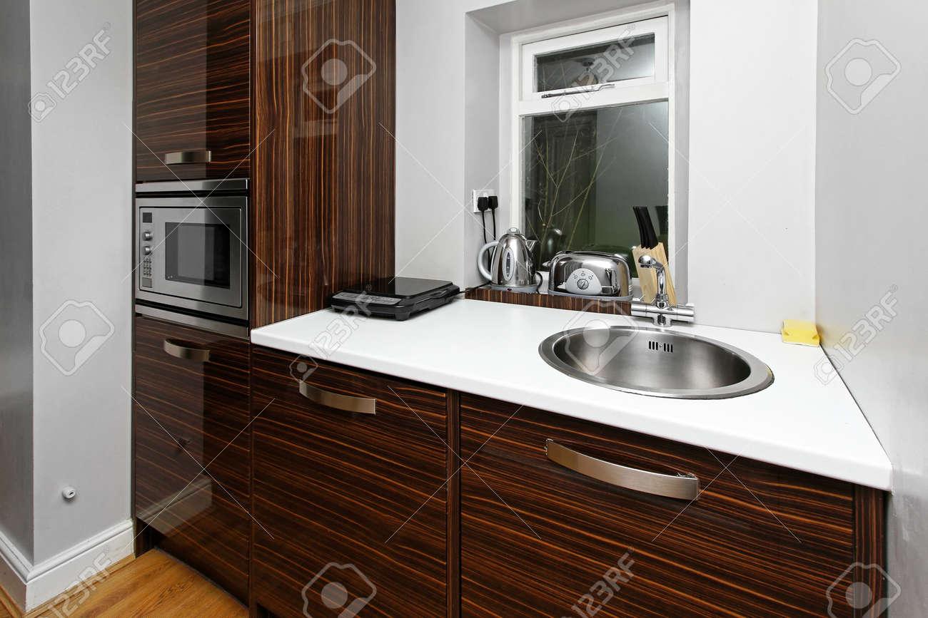 Meuble Cuisine Four Et Micro Onde cuisine avec meuble contemporain et four à micro-ondes