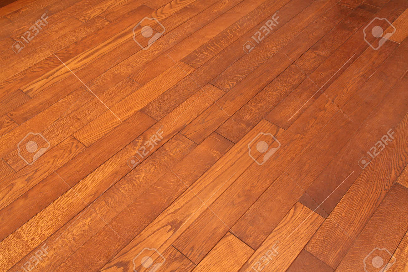 Wood Parquet Floor With Diagonal Tiles Stock Photo Picture And