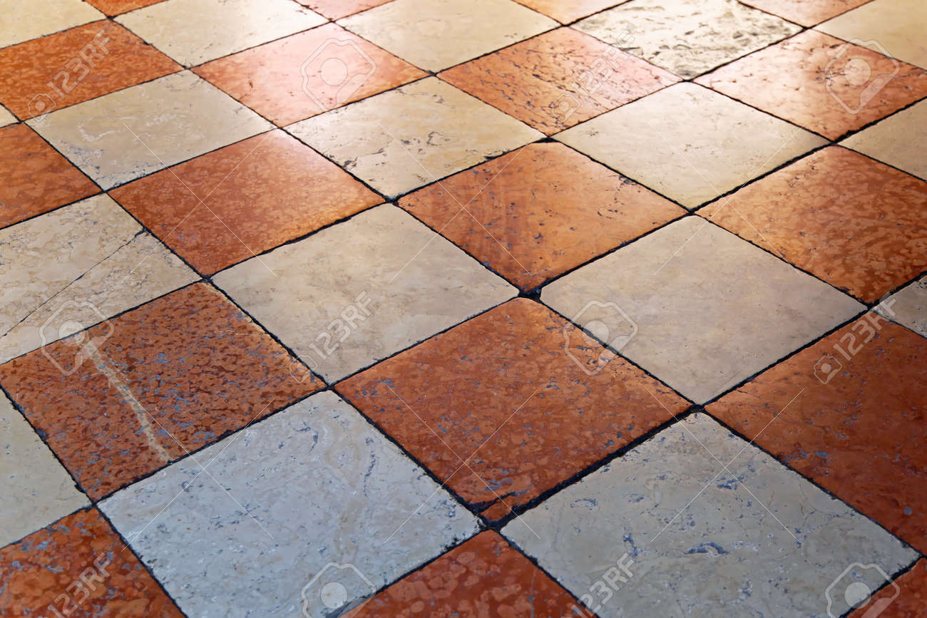 Medieval Marble Floor Tiles In Venice Stock Photo, Picture And ...