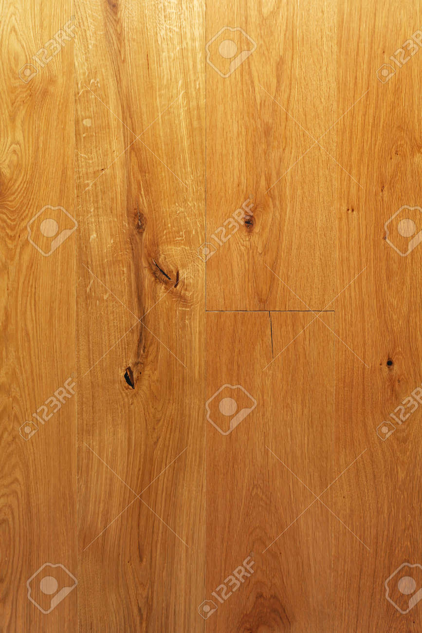 Parquet Floor Tiles Made From Hard Wood With Knots Stock Photo