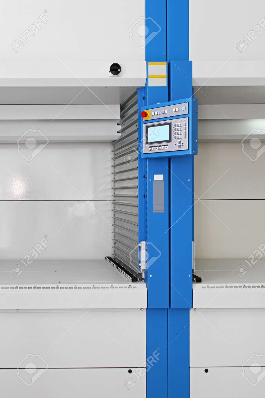 Control Computer For Vertical Sarousel Storage Unit Stock Photo   27525047