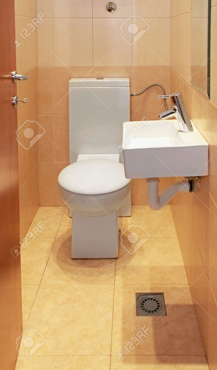 Small Wc With Toilet And Wash Sink Stock Photo 28028448