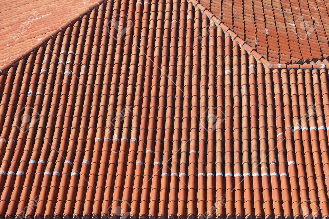 Terracotta ceramic roof tiles from above stock photo picture and terracotta ceramic roof tiles from above stock photo 40636186 dailygadgetfo Gallery