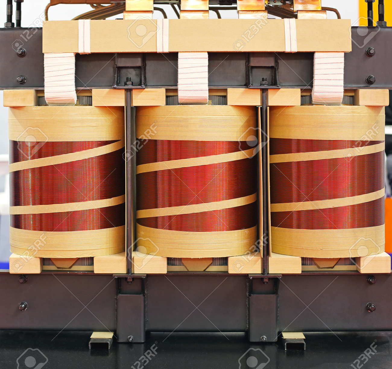 Big Industrial Electric Transformer Device With Copper Wire Coils ...