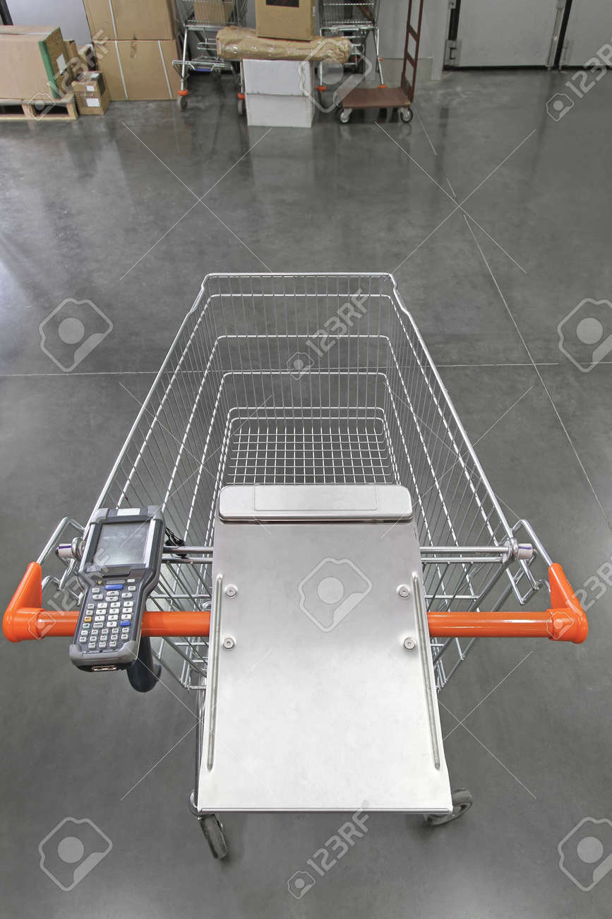 Barcode Scanner Device at Shopping Cart