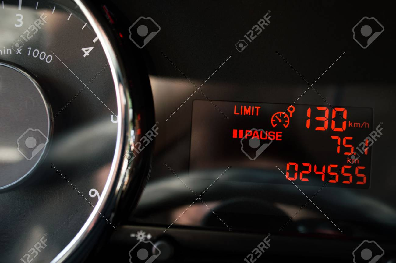 Maximum Speed In Car Was Setted Up Stock Photo Picture And Royalty