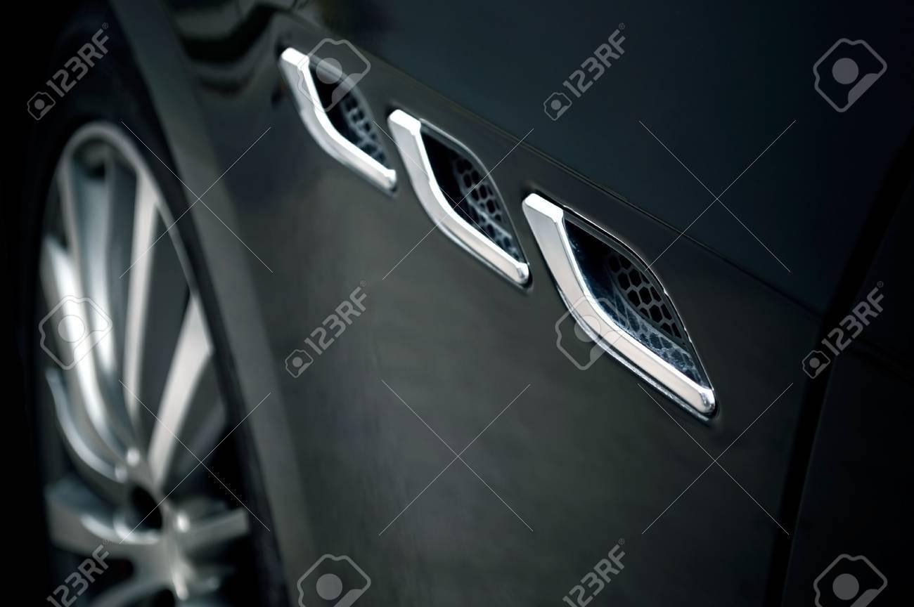 Close Up Des Details De La Voiture De Sport Concept De Papier Peint