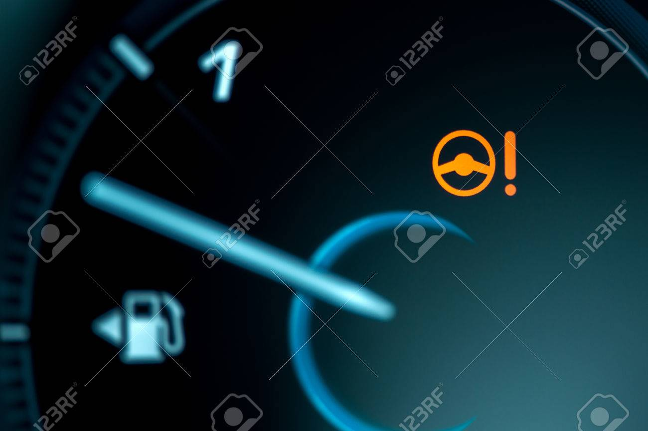 Warning Light Icon In Car Dashboard Power Steering Failure Stock - Car image sign of dashboarddashboard warning lights stock images royaltyfree images
