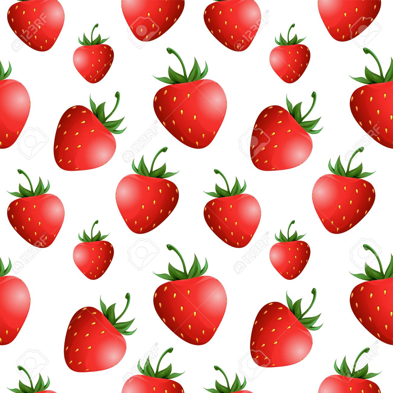 strawberry seamless pattern design templates for textiles