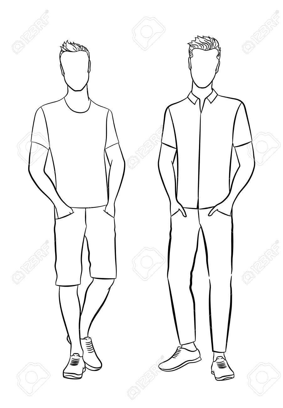 Template Male outline
