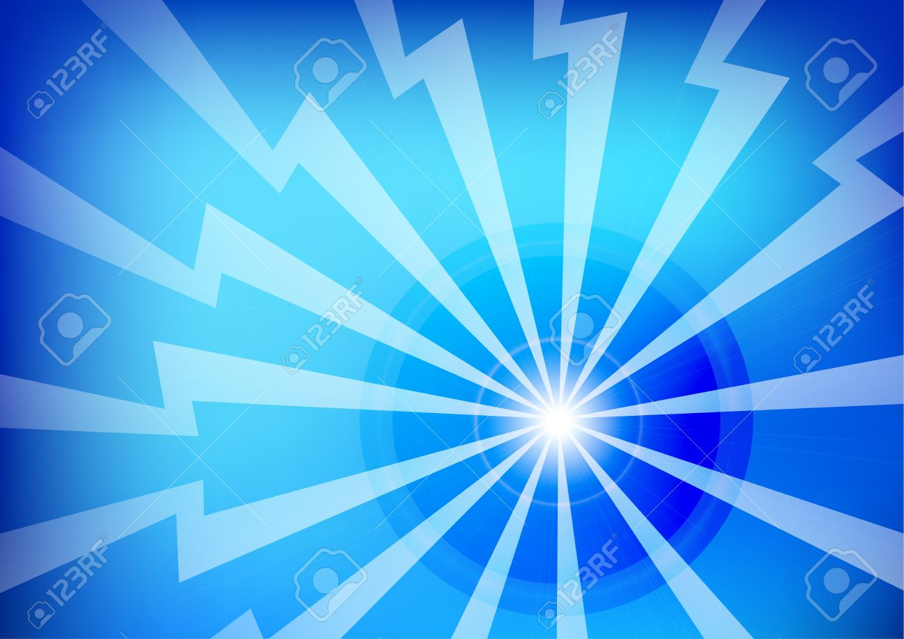 Abstract Blue Lightning Background Wallpaper