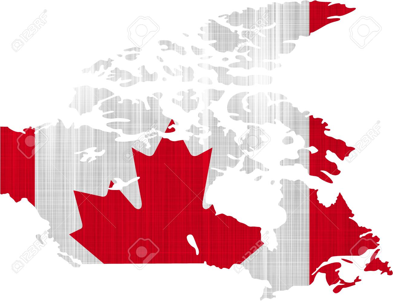 Canada Flag Map On A White Background Stock Photo, Picture And ... on