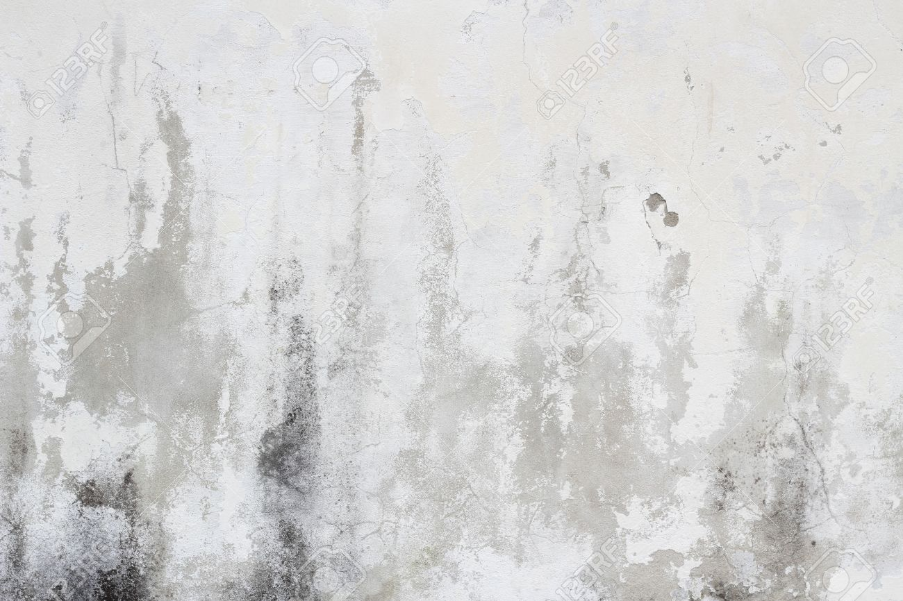 Old White Dirty Wall Texture Background Stock Photo