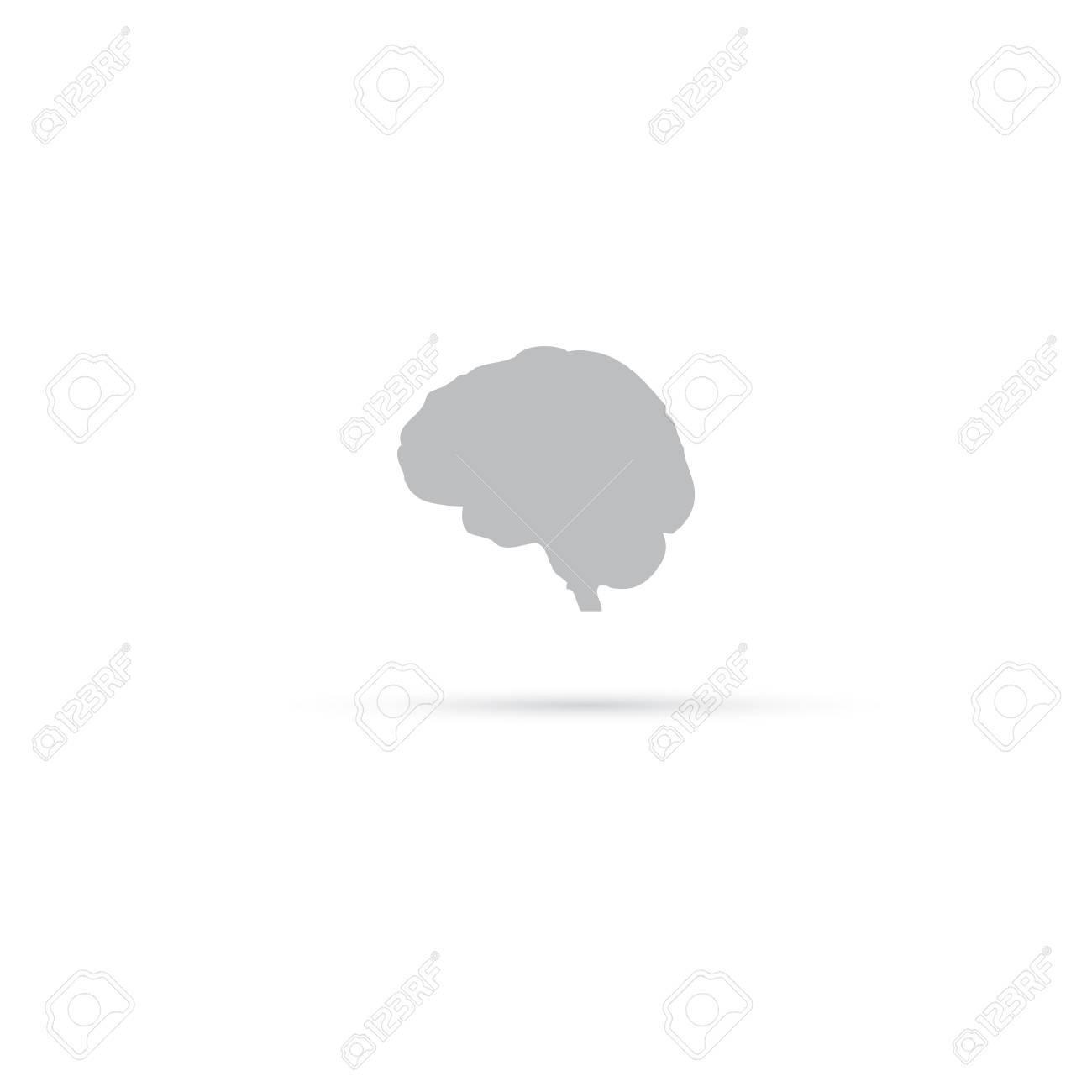 brain icon. vector illustration. human organs. Stock Vector - 21732121