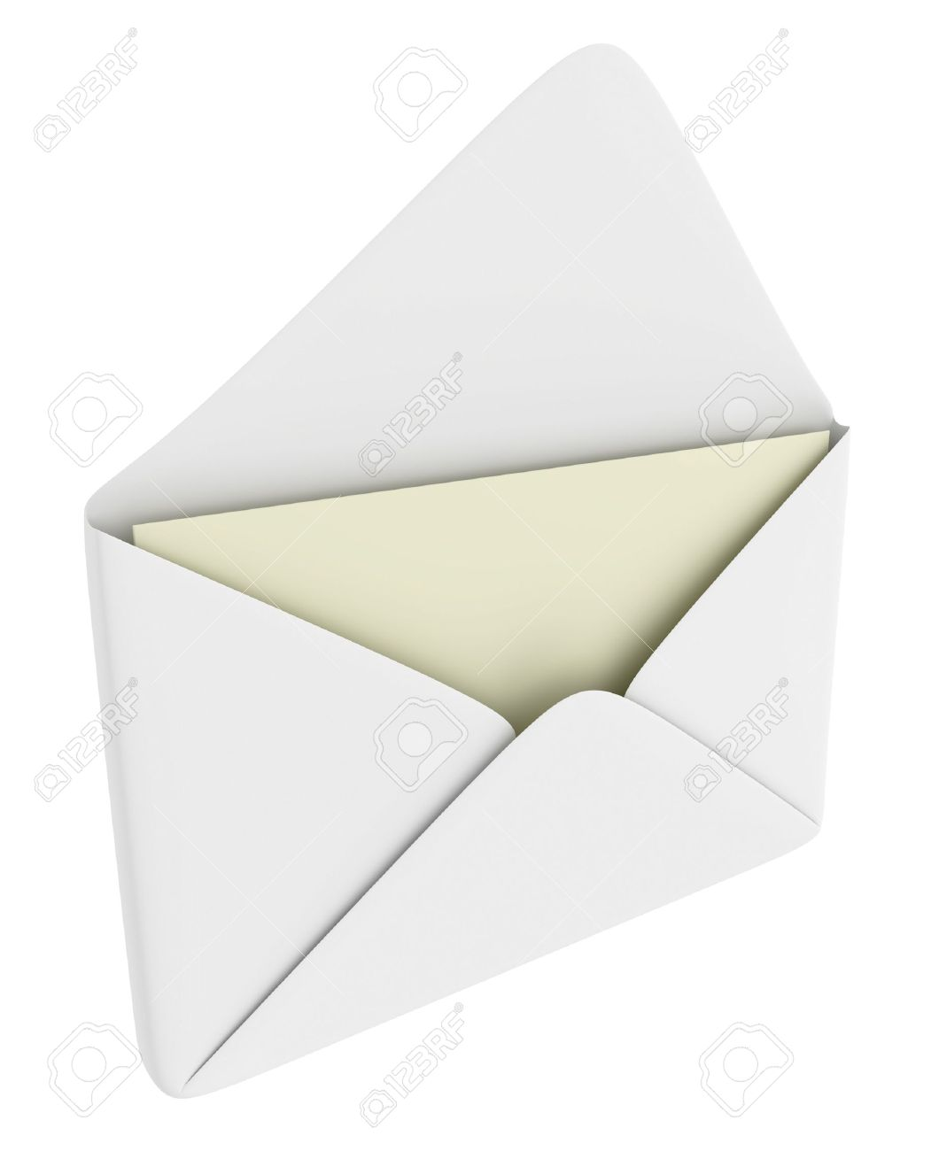 Opened envelope with blank paper (mail theme) Stock Photo - 4305045