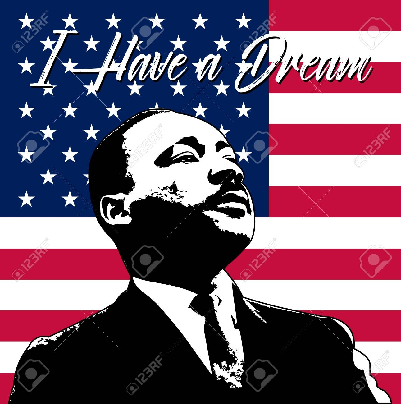 Martin Luther King Day Background Illustration Of Martin Luther