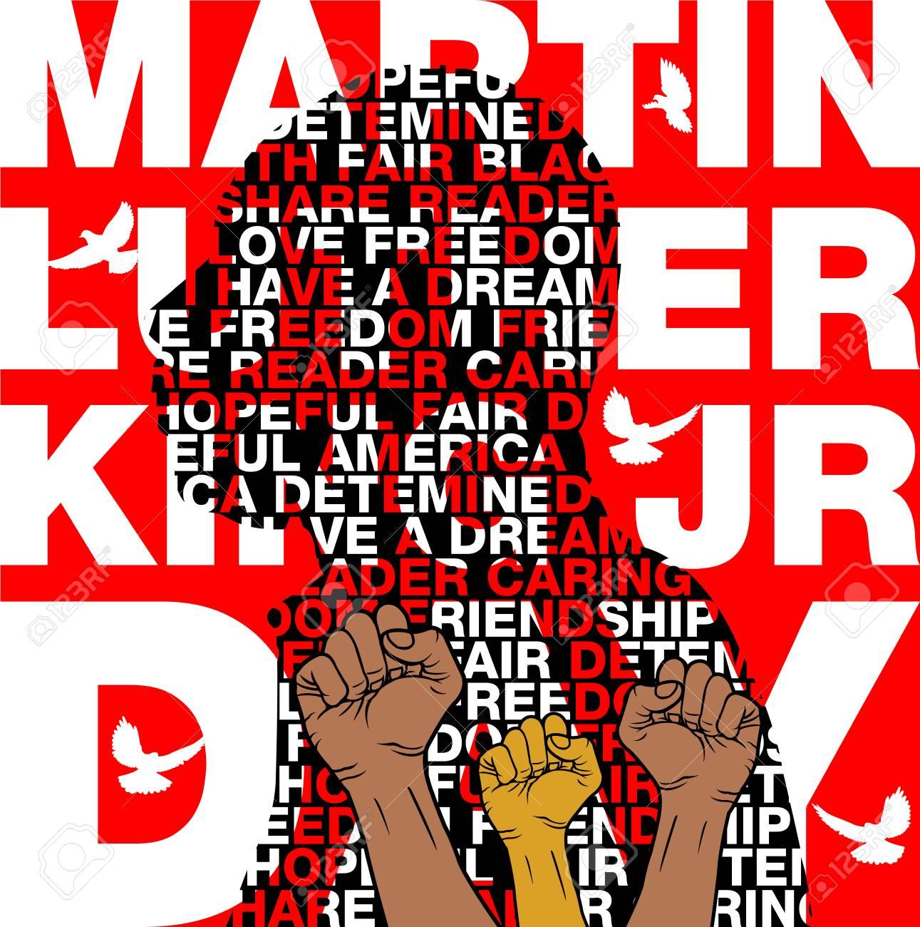 Martin Luther King Jr Day Background Illustration Of Martin