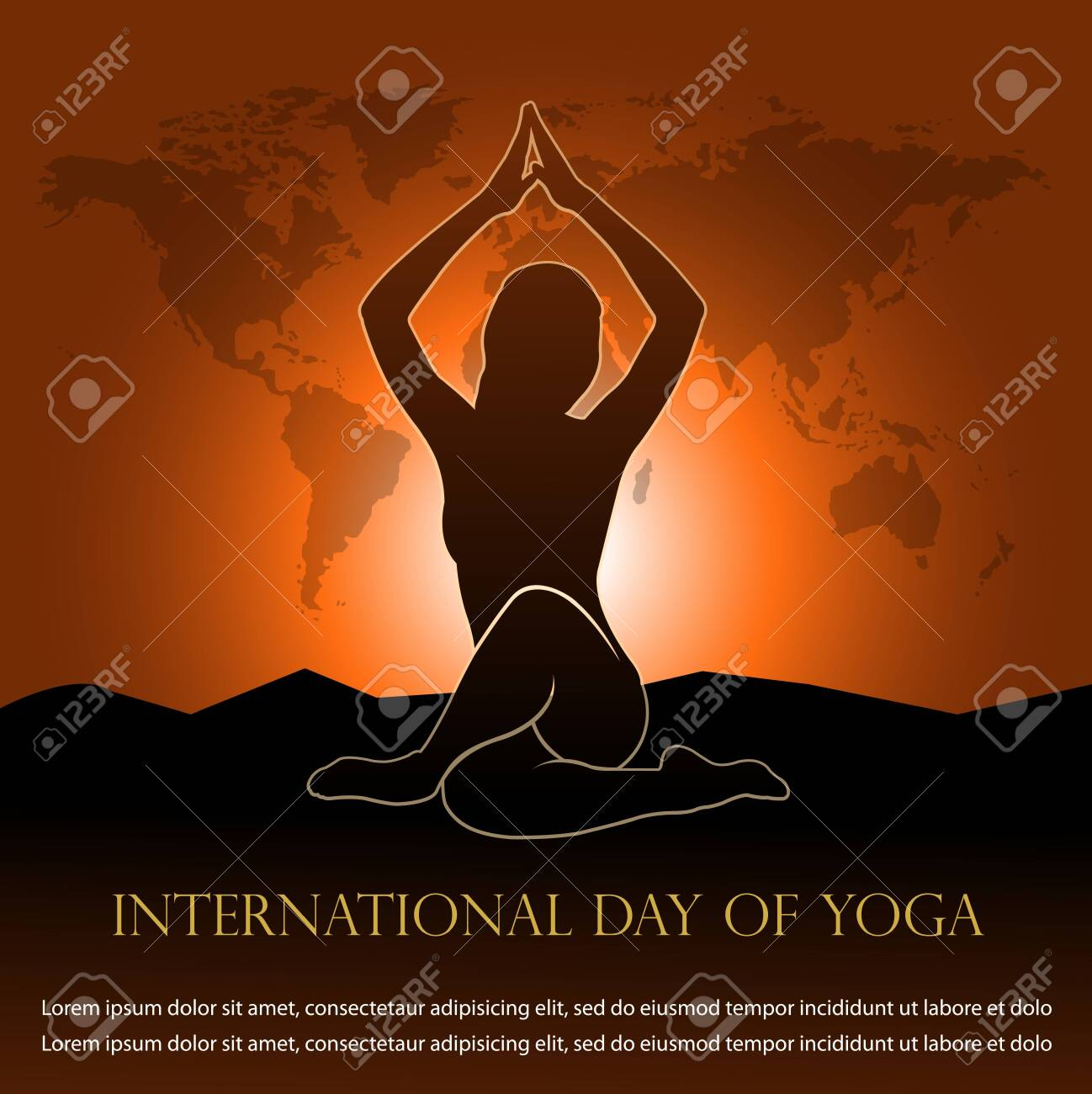 Vector Illustration For International Day Of Yoga Banner Royalty Free Cliparts Vectors And Stock Illustration Image 126170487