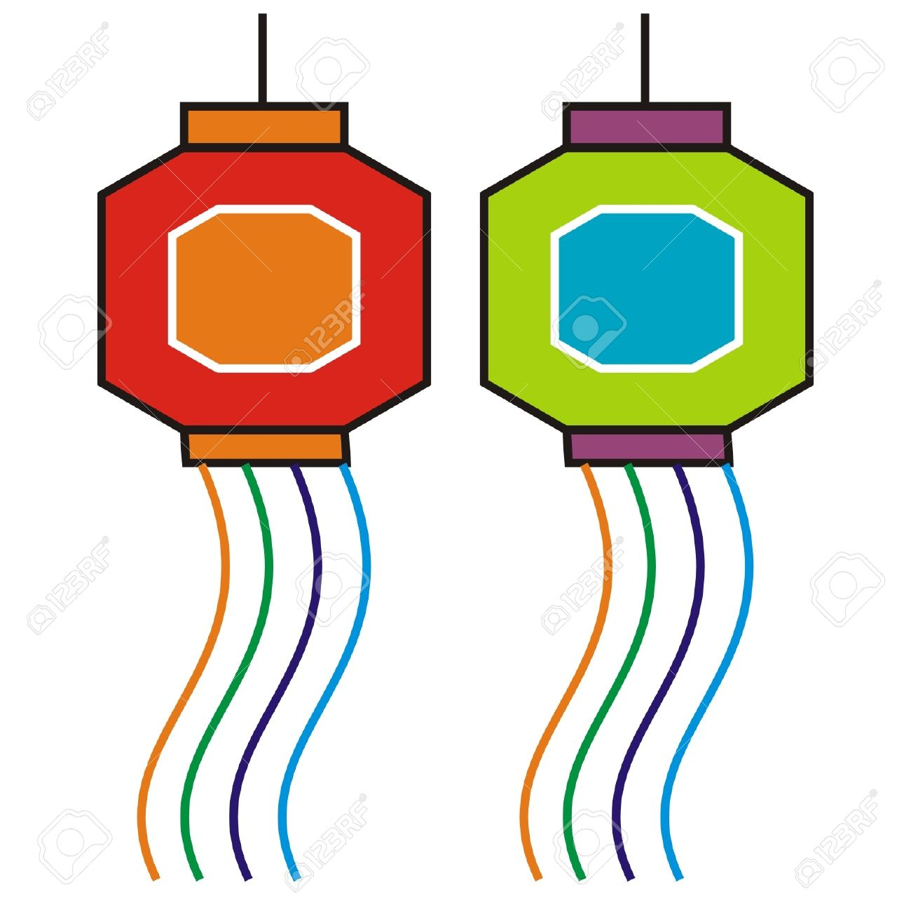 Diwali Lamp Stock Vector