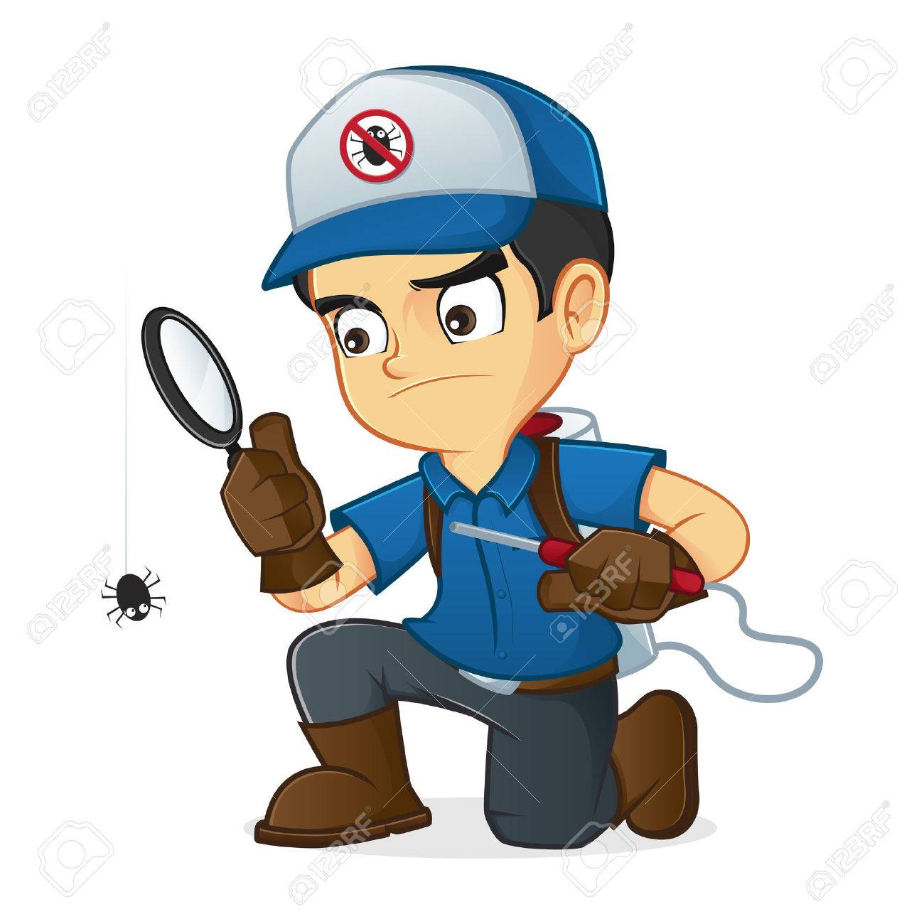 Exterminator searching for bugs and kill them - 50264282